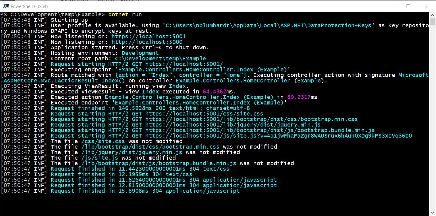 Serilog Terminal Output