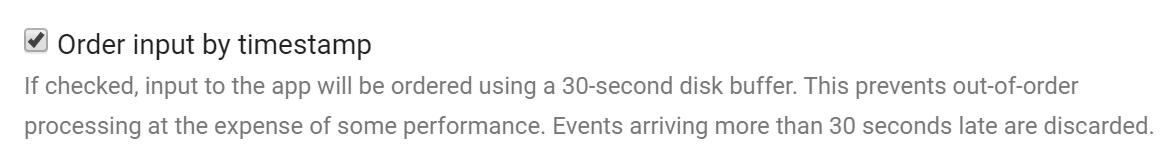 Order-by-timestamp